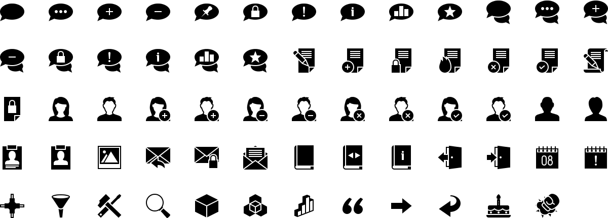 Forum icons in fill style