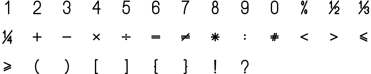 Mathematical symbols icons in fill style